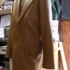 革のジャケットのリフォーム