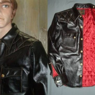 Four Speed(フォースピード) レザーウエスタンジャケットの袖出し加工と身幅詰め