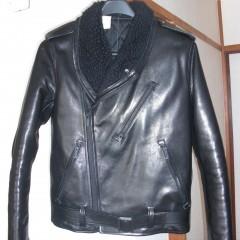 ダブルライダースジャケットの袖丈詰め 6cm