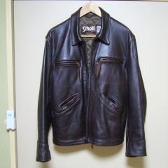 Schott(ショット) シングルライダースジャケットの袖幅つめと、袖丈伸ばし