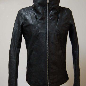 リックオウエンスのレザージャケットのサイズリフォーム
