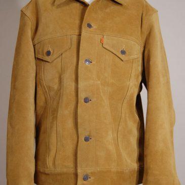 スエードのジャケットサイズダウン