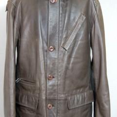 皮製コートの修理