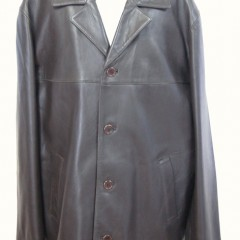 男性革コート 身幅詰め
