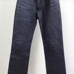クロムハーツ、レザーパンツの裾上げ、ワタリから裾幅までの詰め