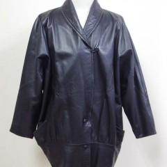 古いレザーコートの着丈、身幅、袖幅詰め