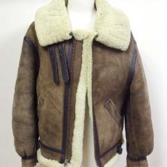 avirex B3ジャケットのフロントファスナー