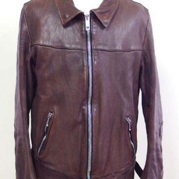 GOLDEN GOOSEの洗いがかけてあるジャケットの肩幅、袖丈詰め