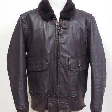 G-1フライトジャケットの袖先・裾リブニット交換 、内ポケットのスナップボタンの交換