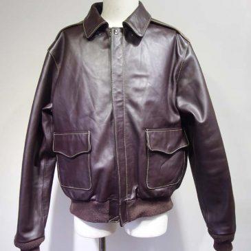 モーガン社製A2フライトジャケット 袖丈詰め、袖先リブ交換、裾リブ交換
