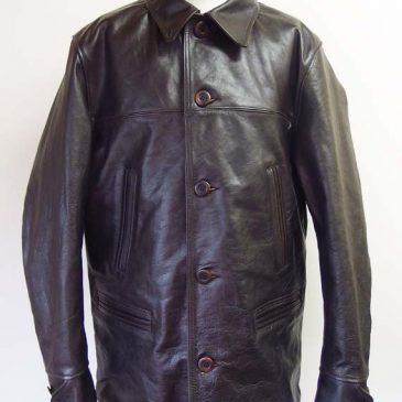 SUGAR CANEのレザーカーコート(馬革)  肩幅、身幅、袖幅、袖丈