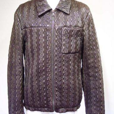 プラダの革ジャン 身幅、袖幅、袖丈、襟変更