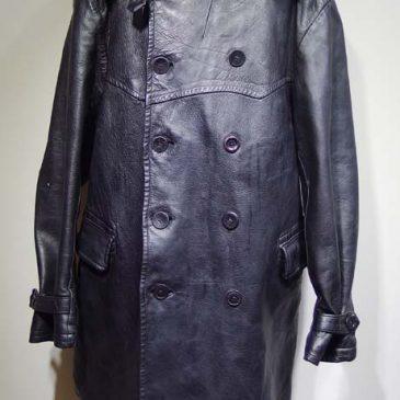 馬革のコート 襟革交換、裏地交換、内ポケット新設、エルボパッチ新設