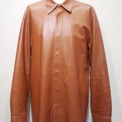 DKNY レザーシャツ 破れ、擦れ、キズ補修