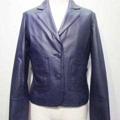 レザーテーラードジャケット 袖丈詰め