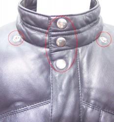金属ボタン(打ち込んであるタイプ)交換 作業前