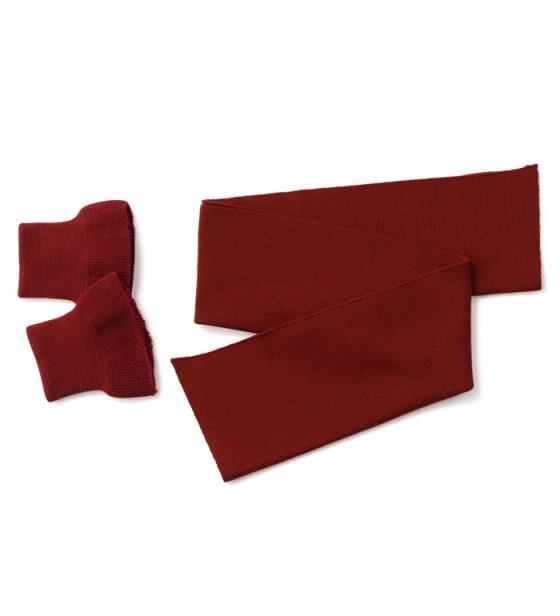 A-2(赤リブ) リブニット、ブリックレッド(赤レンガ色)、ウール100%