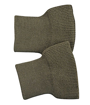 リブニット、ブラウンカーキ、ウール100%、袖口用