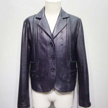 羊革のジャケット(ボレロ)の袖、二の腕がきついのでお直し