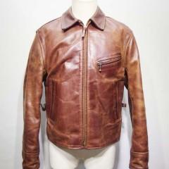 エアロレザーのジャケット(ハーフベルテッド)のリフォーム