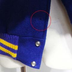 スタジアムジャンパーのドットボタンの修理