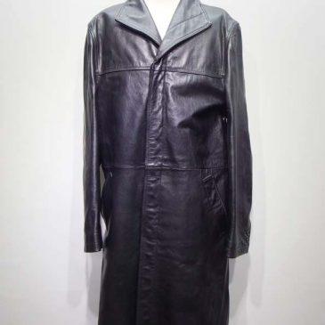 メンズ レザーロングコートの身幅、袖丈