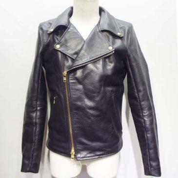 ライダースジャケット 袖幅のサイズダウン、アクションプリーツ深さを浅く