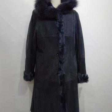 ムートンコート、毛革のリバーシブルコート