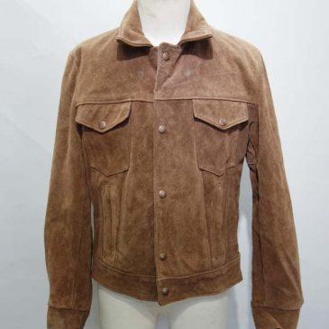 Schottの3rd型スウェードジャケット 袖幅詰め