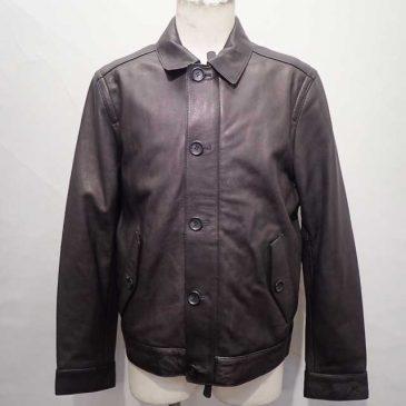 COACH Leather EIZENHOWER Jacket Black