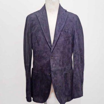 スエード素材テーラードジャケット 袖丈詰め