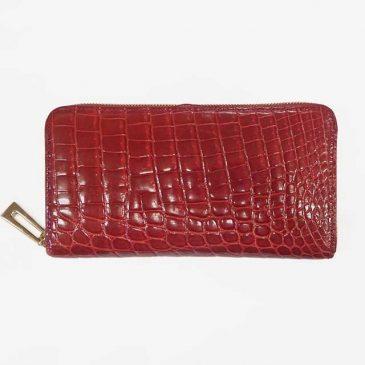 クロコダイル ラウンドファスナー財布