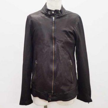 レザーシングルライダースジャケット 着丈詰め(裾の帯部分、約5.5㎝を無くしたい)