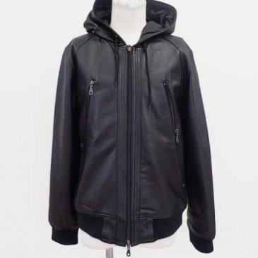 レザージャケット 裾が長いので5センチ程短く