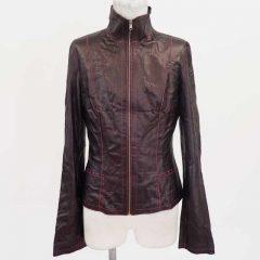 革 ジャケット 袖のほつれの修理
