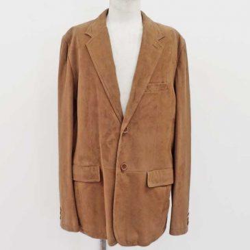 やぎ革ジャケットの袖詰め