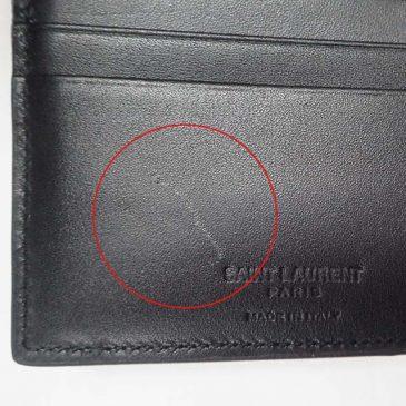 SAINT LAURENT 二つ折り財布 傷補修