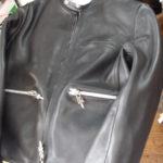 クロムハーツレザーライダースジャケットのサイズダウン
